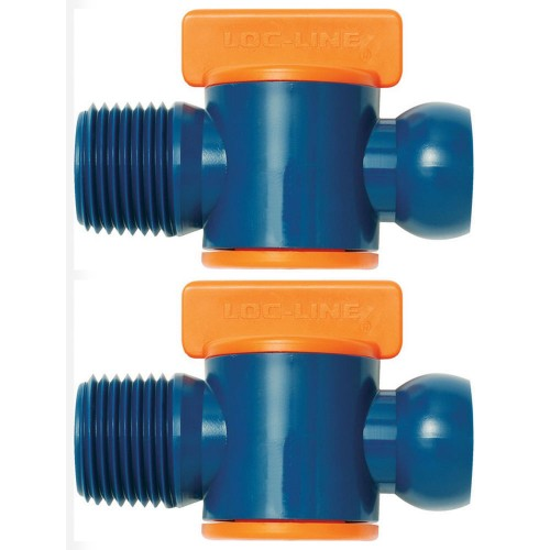 "Loc-Line Male NPT Valve for 1/2"" ID System (pack of 2) 32092"