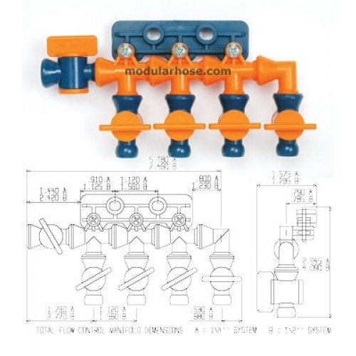 Loc-Line 1/4″ Total Flow Control Manifold Kit 21198