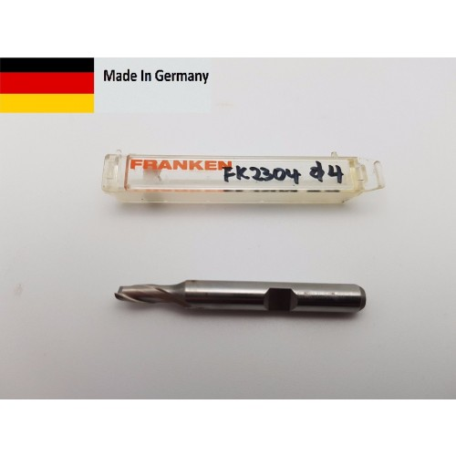 Franken Topcut Allround 4mm 2-Flute HSSE/PM Topline Slot Drill Weldon 2304.004