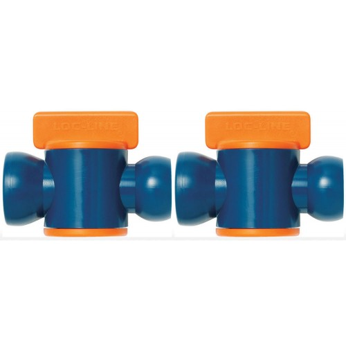 "Loc-Line In-Line Valve for 1/2"" ID System. Comes with *Pack of 2* or *Pack of 10*"