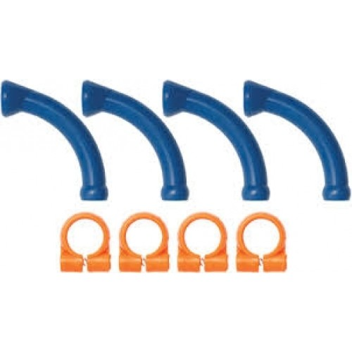 Loc-Line 1/4″ Extended Elbows with Clamps - 40474